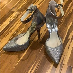 Michael Kors heels. Silver sparkly